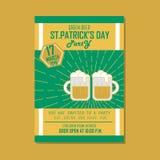 Plakat, Płaski sztandar lub tło dla St Patrick dnia zieleni, Zdjęcia Stock