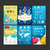Plakat reklamblad, broschyr, affischuppsättning vektor royaltyfri illustrationer