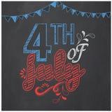 Plakat, sztandar lub ulotka dla Amerykańskiego dnia niepodległości, royalty ilustracja