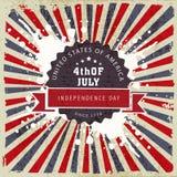 Plakat, sztandar lub ulotka dla Amerykańskiego dnia niepodległości, Fotografia Royalty Free