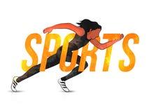 Plakat, sztandar lub ulotka dla sporta pojęcia, Fotografia Royalty Free