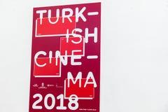 Plakat Turecki kino 2018 przy Berlinale ` s EFM europejczyka filmem Marke Obrazy Stock