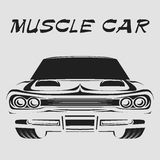 Plakat-Vektorillustration des Muskelautos Retro- Lizenzfreie Stockfotografie