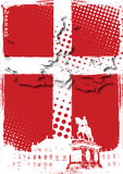 Plakat von Dänemark Stockfotografie