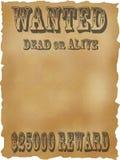Plakat wünschten Tote oder lebendiges. Lizenzfreie Stockfotografie