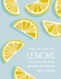 Plakat: Wenn das Leben Ihnen Zitronen gibt Lizenzfreie Stockfotos