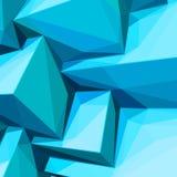 Plakat z abstrakcjonistycznymi błękitnymi kostkami lodu royalty ilustracja