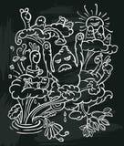 Plakat z potworami ilustracja wektor