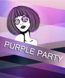 Plakat z purpurową dziewczyną Obraz Stock