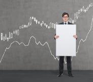 Plakat z rysunkową rynek walutowy mapą Obraz Stock