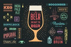 Plakat zum Bier oder nicht zum Bier lizenzfreie abbildung