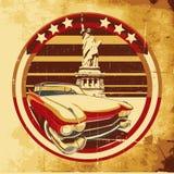 plakata amerykański styl royalty ilustracja