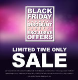 Plakata Black Friday sprzedaż Obraz Royalty Free