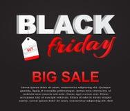 Plakata Black Friday sprzedaż Zdjęcie Royalty Free