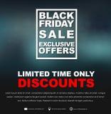 Plakata Black Friday sprzedaż Obrazy Royalty Free