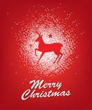 Plakatdesign der frohen Weihnachten Stockfotografie