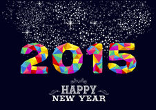 Plakatdesign 2015 des neuen Jahres Lizenzfreies Stockfoto