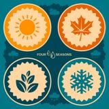 Plakatdesign mit vier Jahreszeiten Lizenzfreies Stockfoto