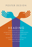 Plakatdesign von Jugend Stockbild