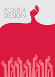 Plakatdesign von Jugend Stock Abbildung