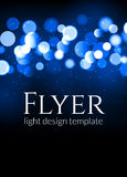 Plakatdesignschablone mit bokeh Lichteffekt Modernes Kartenkonzept des Vektors Feiertagsfliegerschablone für Konzert oder Showpar lizenzfreie abbildung