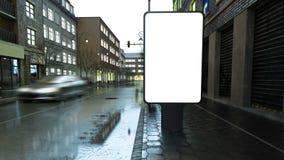 Plakatmodell auf Abendstraße lizenzfreie abbildung