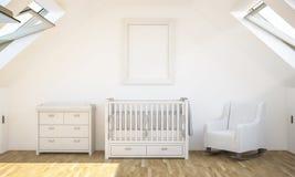 Plakatmodell auf Babyraum stockfotografie