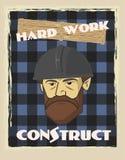 Plakatowa budowniczy twarz Zdjęcie Stock