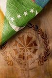 Plakatowa flaga państowowa Comoros Zdjęcia Royalty Free