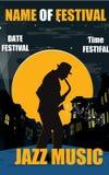 Plakatowa jazzowa muzyka Zdjęcia Stock