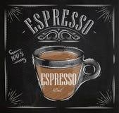 Plakatowa kawy espresso kreda ilustracja wektor