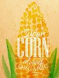 Plakatowa kukurudza ilustracji