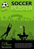 plakatowa piłka nożna Obrazy Royalty Free