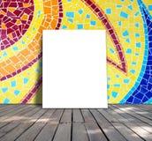Plakatowa pozycja na mozaiki płytce Fotografia Stock