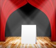 Plakatowa pozycja na scenie dla ewidencyjnej wiadomości Obrazy Royalty Free