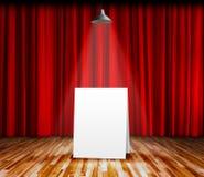 Plakatowa pozycja na scenie dla ewidencyjnej wiadomości Zdjęcie Stock
