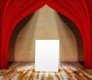 Plakatowa pozycja na scenie dla ewidencyjnej wiadomości Obraz Stock