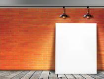 Plakatowa pozycja w ściana z cegieł Zdjęcie Stock