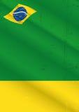 Plakatowy Brazil grunge Obraz Stock