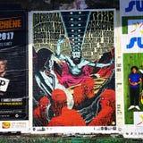 Plakatowy festiwal Zdjęcia Stock