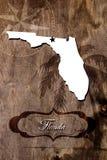 Plakatowy Floryda stanu mapy kontur obrazy royalty free