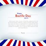 Plakatowy France tła broszurki sztandaru chorągwiany patriotyczny układ z linia lampasami francuza teksta i flagi Bastille Szczęś ilustracja wektor