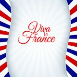 Plakatowy Francja tła broszurki sztandaru chorągwiany patriotyczny układ z linia lampasów błękitną białą czerwienią francuz flagi ilustracji