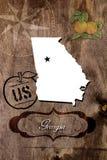 Plakatowy Gruzja stanu mapy kontur obraz royalty free