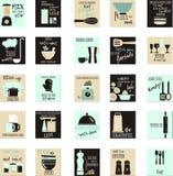 Plakatowy jedzenie obrazy royalty free
