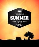 Plakatowy lato temat, zdrowy życie styl Obrazy Stock