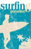 plakatowy surfing Zdjęcie Royalty Free
