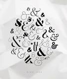 Plakatowy symbolu ampersand Royalty Ilustracja
