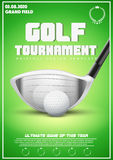 Plakatowy szablon Golfowy turniej Obrazy Royalty Free