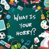 Plakatowy szablon nowożytne płaskie projekta hobby ikony Obrazy Royalty Free